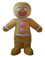 Gingerbread Man Mascot Costume Cosplay Party Fancy Dress Adults Parade Suit