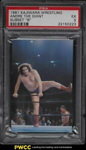 1981 Kajiwara Wrestling Subset B Andre the Giant PSA 5 EX