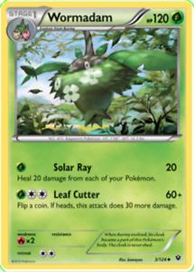 Pokemon TCG XY Fates Collide Wormadam 3/124 003/124 Uncommon - New NM