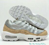 Nike Air Max 95 SE PRM Premium Womens Sneaker Platinum Silver Running AH8697-002