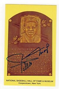 Willie Mays Baseball Hall Of Fame Autograph Hand Signed Postcard