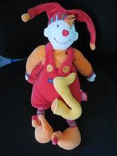 doudou peluche clown Dragobert rouge note musique MOULIN ROTY 37cm