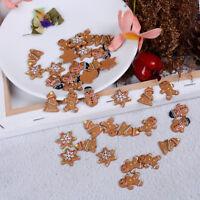 10pcs Resin Christmas Tree Snowman Crafts Flatback Cabochon Scrapbooking Deco cv