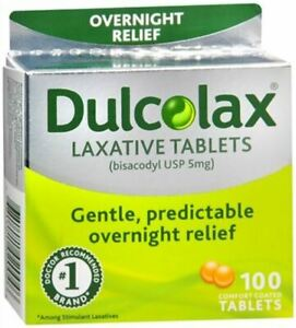Dulcolax 5mg Laxative Tabs Lot (2) 100ct Boxes - 200ct Total Tablets - Exp 12/23