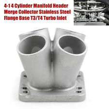 4IN-1OUT Cylinder Manifold Header Merge Collector Flange Base T3/T4 Turbo Inlet