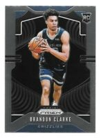 Brandon Clarke Rookie Card 2019-20 Panini Prizm #266 Base Memphis Grizzlies RC