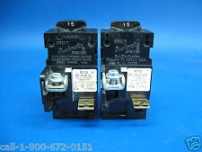 2 - Pushmatic 15 amp Breakers  P115 Siemens ITE Gould 15A Single Pole NICE!