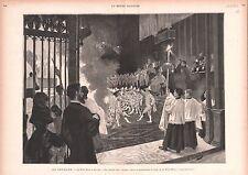 Corpus Christi (feast) Sevilla Seville Danza Seises Spain GRAVURE PRINT 1883