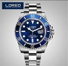 LOREO AQUA BLUE Luxury Submariner Men's Automatic Date Watch U.K