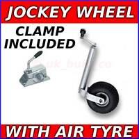 Trailer 48mm JOCKEY WHEEL & CLAMP / Pneumatic Air tyre