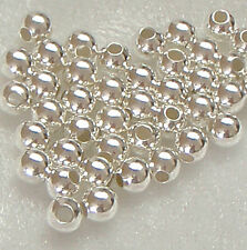 Pack of 50 ~ 4mm Sterling Silver Round Seamless Spacer Beads