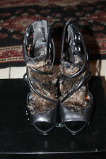GUESS BY MARCIANO BLACK MULTI LEATHER HEELS SIZE 9M