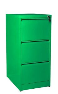 3 Draw Heavy Duty Commercial  Steel Filing Cabinet Colour Office Home Assembled