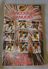 Original NHL Vancouver Canucks 1986-87 Official Hockey Media Guide Yearbook