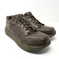 New Balance MW927BR Men's 11 D Lace Up Brown Walking Leather Sneakers Shoes
