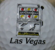 (1) LAS VEGAS - SLOT MACHINE CASINO LOGO GOLF BALL