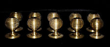 10 X SOLID BRASS VICTORIAN STYLE BEEHIVE DRAWER KNOBS PULLS HANDLES