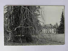 Saint-Priest-Ligoure, France B&W card 1955 Chateau-Elyas