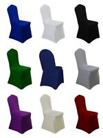 Color Stretch Spandex Premium Chair Cover Full Seat Banquet Lycra Wedding Cover