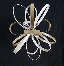 SOSPENSIONE LAMPADARIO LED CROMO MODERNO CONTEMPORANEO ART.L48 MADE IN ITALY
