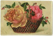 Mrs. Mary J Hayden Florist Syracuse New York NY Victorian Trade Card Rose Basket