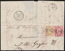 1864 - FRANCIA UFFICIO DI ALESSANDRIA D'EGITTO, MEZZA LETTERA PER LA SVIZZERA