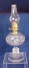 Miniature Findlay Glass Stars & Bars Kerosene Lamp Ohio Bellaire Goblet Co
