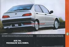 Alfa Romeo 146 1995 Magazine Double Page Advert #4950
