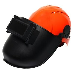 Welding Mask with Flip Up Welding Screen & JSP EVO3 Safety Helmet Hard Hat