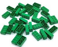 LEGO LOT OF 2 X 4 STUD GREEN BRICK PIECES BUILDING BASIC BLOCK PARTS