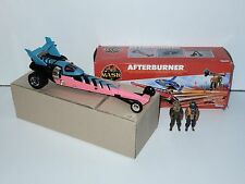 M.A.S.K - AFTERBURNER w/ DUSTY HAYES & CLONE 100% COMPLETE MIB KENNER