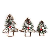 Weihnachtsbaum Rattan Stern Glocken Kranz DIY Girlande Xmas Hängen Anhänger Deko