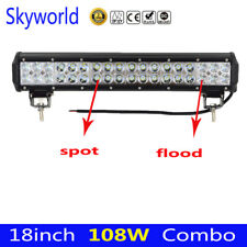 18inch 108W LED Work Light Bar Combo Beam Offroad SUV 4X4 Driving Truck Jeep 17""