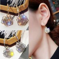 Fashion Crystal Rhinestone Women Brincos Drop Dangle Earrings Ear Studs Jewelry