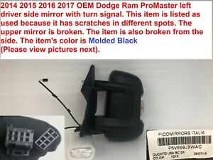 2014-2017 ram promaster 1500 left side mirror with turn signal 5ve99jxwac #306