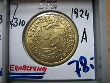 J310  50 Rentenpfennig 1924 A n STG