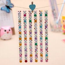 Colorful Crystal Diamond Sticker Self Adhesive Glitter Rhinestone Gem Decal