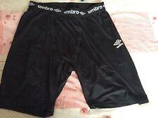 Hommes Umbro Sports Cyclisme Shorts Taille XXL Gym Entraînement Noir matière stretch