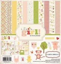 "CARTA BELLA ""IT'S A GIRL"" 12X12 PAPER KIT BABY TODDLER CHILD SCRAPJACK'S PLACE"