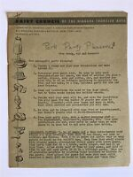 Buffalo NY Vintage Dairy Council Of Niagara Frontier Area Recipes / Party