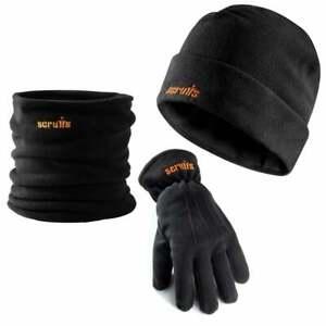 Scruffs Winter Essentials Pack Fleece Beanie Hat Neck Warmer/Snood/Scarf Gloves