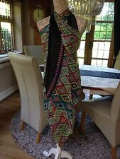 DESIGNER LARGE BLACK MULTI WAY LONG PAREO SARONG BEACH WRAP COVER UP NEW