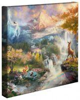 Thomas Kinkade Disney Bambi's First Year 14 x 14 Gallery Wrapped Canvas
