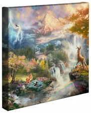 Thomas Kinkade Bambi's First Year 14 x 14 Wrapped Canvas Disney