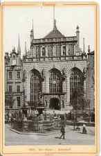 R. et J. D., Pologne, Gdańsk Die Börse Vintage print Tirage albuminé  16X11