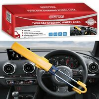 GADLANE Heavy Duty Twin Bar Steering Wheel Lock Car Van Security Anti Theft