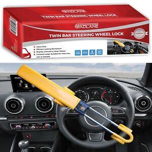 GADLANE Heavy Duty Twin Bar Steering Wheel Lock Car Van Security Anti Theft