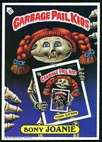 """1986 1st Series, Giant 5""""x 7"""" Garbage Pail Kids - Bony Joanie - #2"""