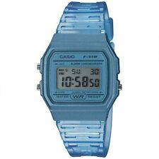 Casio Collection Quartz Digital Dial Blue Resin Strap Ladies' Watch F-91WS-2EF