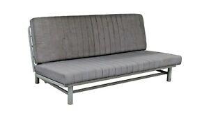 IKEA NYHAMN Sleeper sofa with triple cushion, with pocket spring mattress gray
